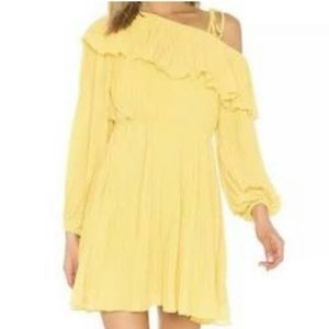 NWT pleated one shoulder dress